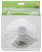 Masque pour poussière fine FFP2 NR D avec soupape