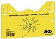 Plaquette de signalisation – clôture électrique!