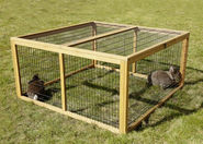 Open-air enclosure with breakout barrier