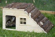 Maison pour rongeur avec rampe Nature