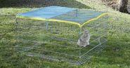 Enclos extérieur pour rongeur avec dispositif anti-fugue